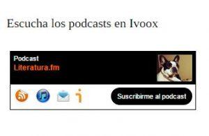Literatura.fm en Ivoox